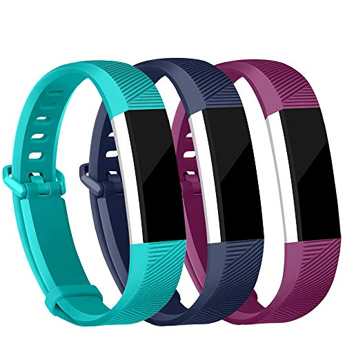 iGK Replacement Bands Compatible for Fitbit Alta and Fitbit Alta HR, Newest Adjustable Sport Strap Smartwatch Fitness Wristbands Navy Teal Fuchisa Small