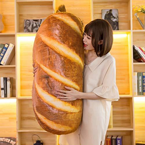 3D Simulation Bread Shape Pillow -Novelty Food Throw Pillow, Baguette Pillow, Lumbar Back Cushion, Funny Sleeping Hugging Pillow, Soft Plush Stuffed Toys for Home Sofa Nursery Decor (23.6inch/60cm)