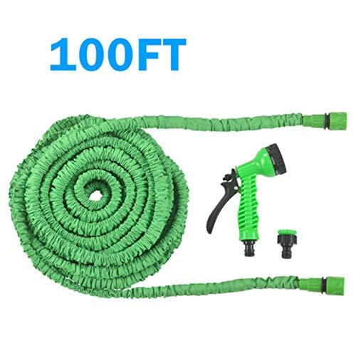 Huatuqi Stretch Gartenschlauch, optionale Länge, erweiterbarer Wunderschlauch, mit 7 Pistolen Funktion für Gartenbewässerung/Autowäsche 30 m