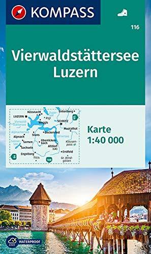 Carta escursionistica n. 116. Vierwaldstättersee, Luzern 1:40.000: Wanderkarte. GPS-genau. 1:50000