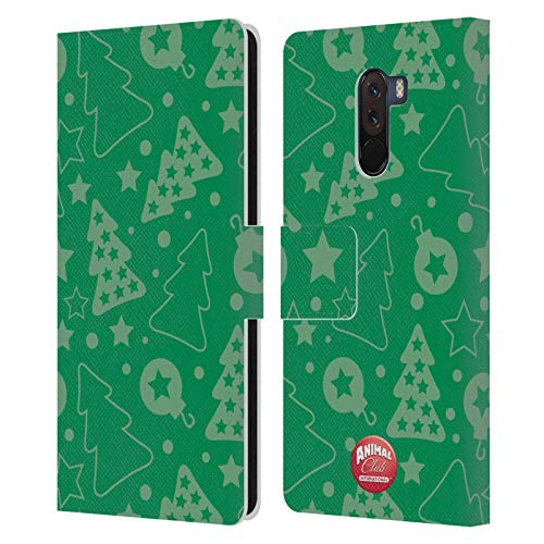 Head Case Designs Offizielle Animal Club International Weihnachtsbaum Gruen Kristall Muster Leder Brieftaschen Huelle kompatibel mit Xiaomi Pocophone F1 / Poco F1