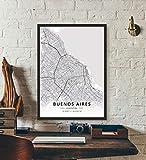 ZWXDMY Leinwand Bild,Argentinien Buenos Aires Stadtplan