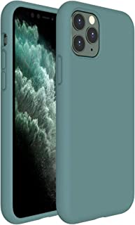 Miracase Liquid Silicone Case Compatible with iPhone 11 Pro 5.8 inch(2019), Gel Rubber Full Body Protection Shockproof Cover Case Drop Protection Case (Midnight Green)