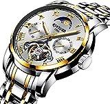 Reloj de Hombre para Relojes de Hombre Reloj de Vestir de Negocios de Acero Inoxidable a Prueba de A...