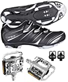 Venzo Mountain Bike Bicycle Cycling Compatible with Shimano SPD Shoes...