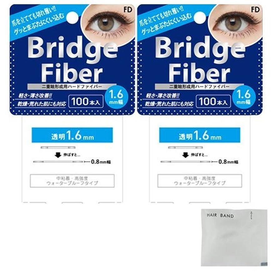 強いブリッジ識字FD ブリッジファイバーⅡ (Bridge Fiber) クリア1.6mm×2個 + ヘアゴム(カラーはおまかせ)セット
