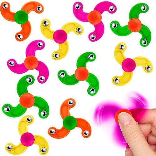 German Trendseller ® - 12 x Kinder Party - Mini Twister Mix ┃ Gyro - Geschicklichkeits - Kreisel ┃ Mitgebsel ┃ Kindergeburtstag ┃ 12 Stück