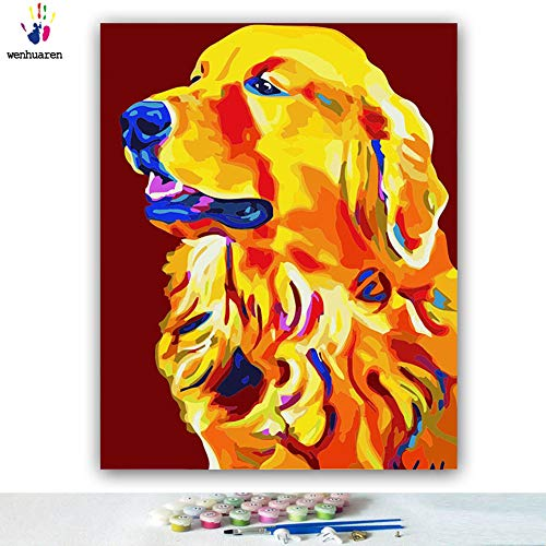 Paint by Number Kits Canvas DIY Oil Painting for Kids, Students, Adults Beginner...