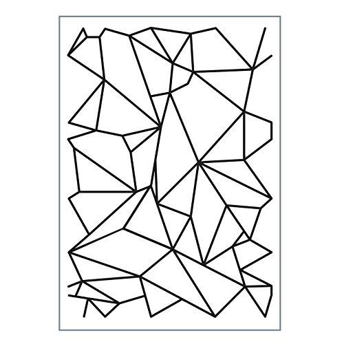 Vaessen creatieve liefde het collectie grafische lijnen reliëf map, multi-kleur, maat A6