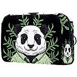Kit de Maquillaje Neceser Panda Gracioso Lindo Make Up Bolso de Cosméticos Portable Organizador Maletín para Maquillaje Maleta de Makeup Profesional 18.5x7.5x13cm