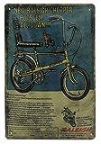 Raleigh Chopper Bicicleta, Bonanza Kult, clásica, cartel de publicidad, cartel publicitario, cartel de chapa para puerta, decoración, 30 x 20 cm