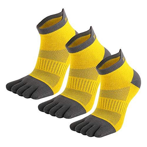 MeiKan calcetines con dedos(2021 nuevo), Calcetines De Deporte para Hombre, Mujer y niño,3 Pares Calcetines De Correr