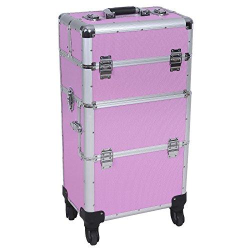 Songmics® trolley Beauty Case Nail Art Valigia professionale XXL rosa JHZ05P