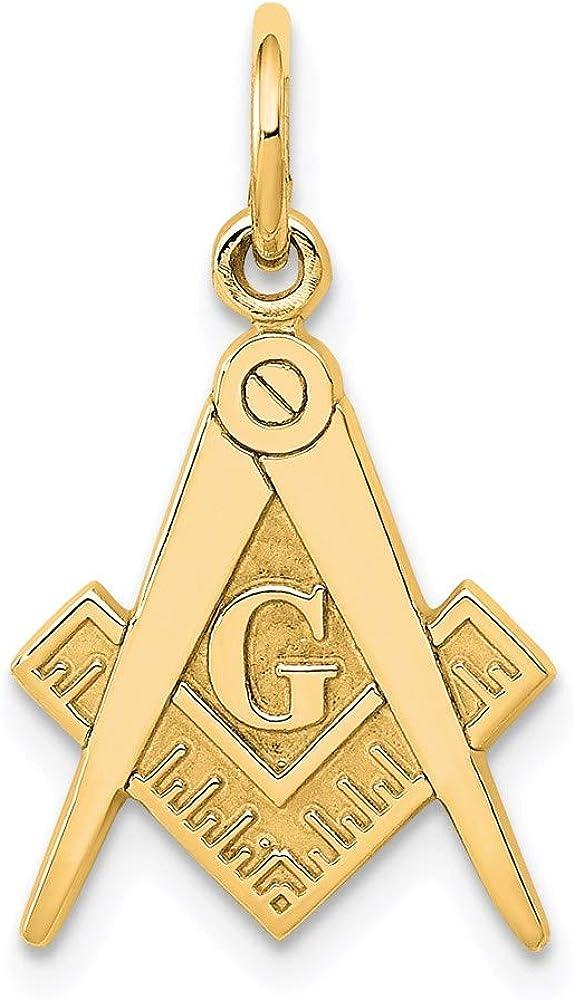 14k Yellow Gold Pendant Max 63% OFF Charm Masonic Super sale period limited