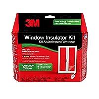 3M 屋外パティオドア 透明断熱キット 断熱/保冷 大きな窓とスライドドア用 1ドアキット 7フィートX 9フィート
