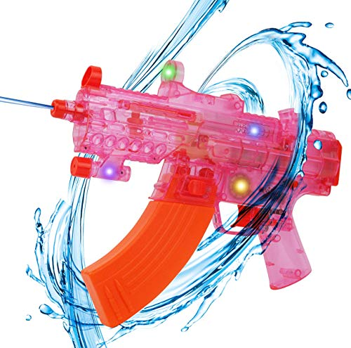 Liberty Imports Battery Operated Motorized Automatic Electric Super Water Gun Soaker Blaster (Pink (SMG))