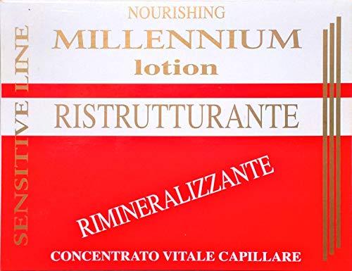 Lotion pour Cheveux restructurant et rimineralizzante aux extraits végétaux 7 ampoules de 10 ml professionnel sans rinçage ligne Millennium