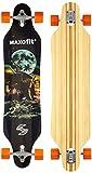 Deluxe Longboard Maxofit Mammut No.15, 103 Cm 9 Strati Di Acero Canadese, Drop Through...