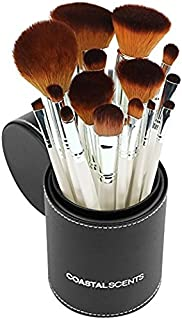 Coastal Scents 16 Piece Pearl Brush Set in Travel Cup (BR-SET-022)