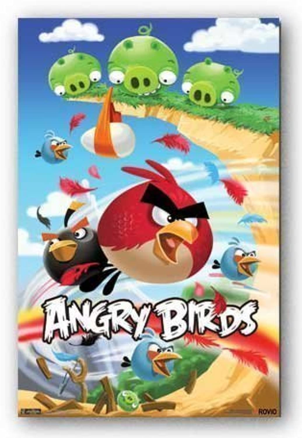 Angry Birds Video Game Poster Attack 1459