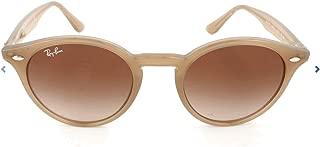 Óculos de Sol Round Stylish Ray Ban RB2180 Nude Translúcido Lente Tam 49
