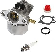 HURI Carburetor with Gasket Primer Bulb Spark Plug for Briggs & Stratton 14111 Craftsman 625 498170 6150 Engine