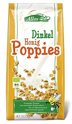 Allos Dinkel-Honig-Poppies, 300 g