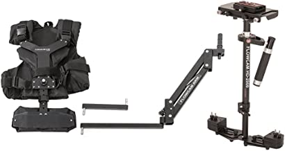 FLOWCAM HD-2000 Camera Handheld Steadycam Stabilizer System with Flowcam Arm Vest and Metal Quick Release Plate for DSLR Video Camcorder up to 2.7 kg(6 lbs) with Carry Bag