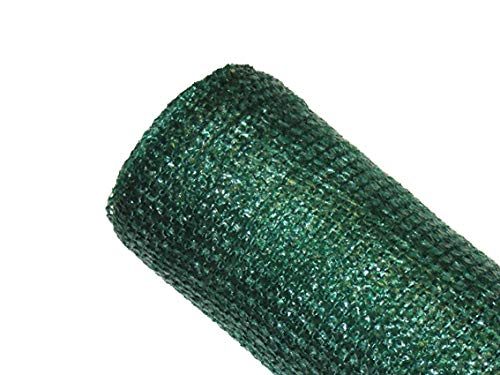 MAILLESTORE Brise-Vue 80% - Vert/Noir - 95g/m² - sans Boutonnières Vert/Noir 2m x 5m