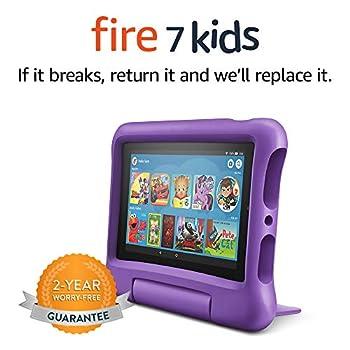 Fire 7 Kids Tablet 7  Display ages 3-7 16 GB Purple Kid-Proof Case