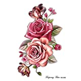 Handaxian 3pcs Flower Arm Tattoo Stickers Waterproof Personality Fashion Beautiful Tattoo Stickers HB-665 A5 (210 * 148mm)