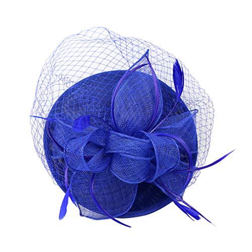 IPOTCH Diadema de Pelo Mujer Sombrero Tocado de Plumas Flores Facinator de Años 20 Joyas para Fiesta Cóctel Noche