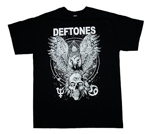 Deftones - Owl and Skull - Men's T-Shirt 2XL Black