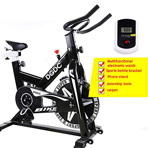 Best Bargain ZHANGY Indoor Exercise Bike Home Gym Adjustable Resistance Generic Exercise Bike Gym Fi...