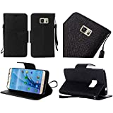 Samsung Galaxy S8 G950 case, Luckiefind Premium PU Leather Flip Wallet Credit Card Cover Case, Stylus Pen, Screen Protector Accessories (Wallet Black)