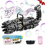 SPECOOL Maquina Burbujas Niños, 2021 Gatling Bubble Machine con Música,Máquina de Burbujas Automática, Maquina Pompas Jabon de para Niños Juguete de Baño Fiestas Bodas