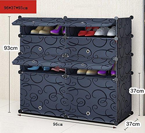 Chaussure Étagères Multi-magasins Armoire à antipoussière, Combinaison de Rangement de Rangement de Multifonctions de Grande capacité, Armoire à en résine de ménage en Plastique