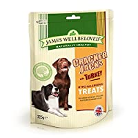No artificial colours, flavourings or preservatives No beef, pork, wheat, gluten or dairy products Natural dog treats