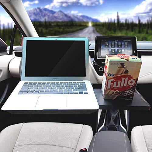 Ma Way Car Laptop Desk, Multi-Functional Tablet Holder Portable Lap Mount Notebook Table Car Seat Travel Tray Steering Wheel Desk