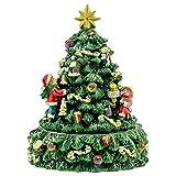 Elanze Designs Christmas Tree and Santa Revolving Music Box - Plays Tune We Wish You A Merry Christmas