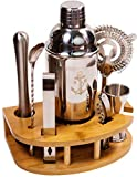 Stock Harbor 8 Piece Mixology Bartender Kit with Stand, Cocktail Shaker Set, Bar Set, Cocktail Kit, Stainless Steel