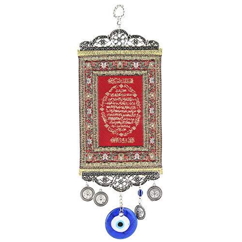 Hztyier Turks Blue Evil Eye parels ornament amulet tapijt zacht blauw glas hanger Home Lucky bescherming wandbehang decor