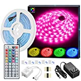 MINGER LED Strip Lights, 16.4ft RGB LED...