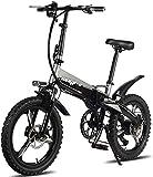RDJM Bici electrica Bicicletas eléctricas rápidas for Adultos Bicicletas de montaña Plegable 48V 250W Adultos aleación de Aluminio de 7 velocidades Bicicletas eléctricas Bicicletas Doble Amortiguador