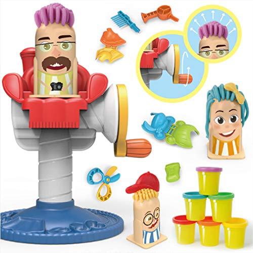 Friseurladen Polymer Clay Spielzeug,6 Colour farbige Modelliermasse,mit Modellierwerkzeugen und Zubehör,Sicher und ungiftig, Beste Weihnachten und Geburtstagsgeschenke für Kinder