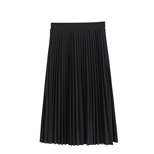 52a7c77353e3be GOLDSTITCH Women Pleated Fall and Winter A line Midi Skirt