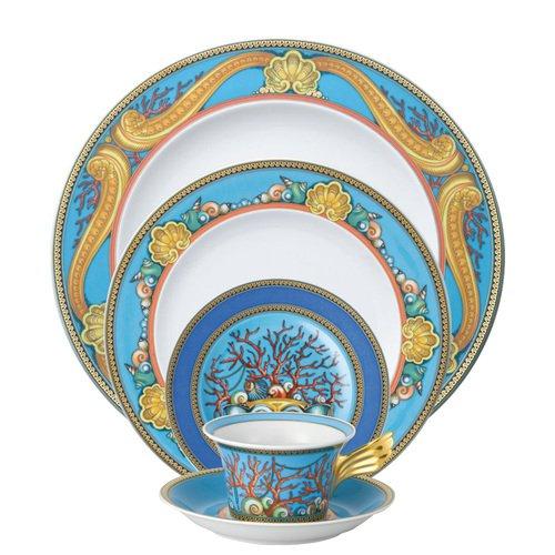 Versace by Rosenthal La Mer - Vajilla (5 piezas), servicio para 1