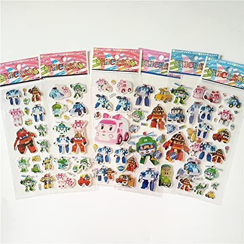 YiXing 6 pegatinas de dibujos animados anime ponies princesa juguete niños mi pequeño unicornio para equipaje portátil skate burbuja etiqueta (color: poli)