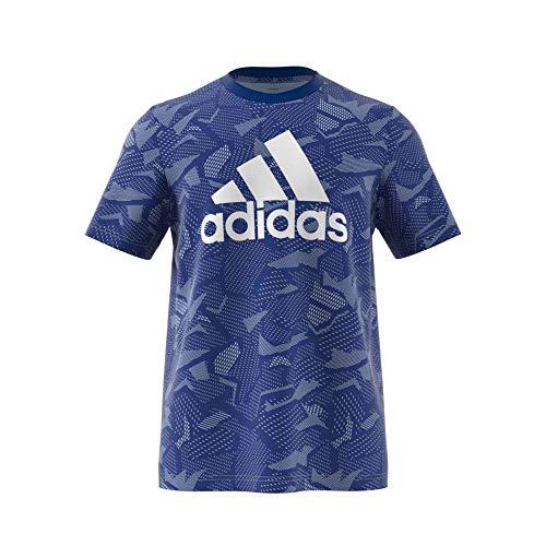 adidas Herren M E AOP T-Shirt, Royblu/White, 5XL