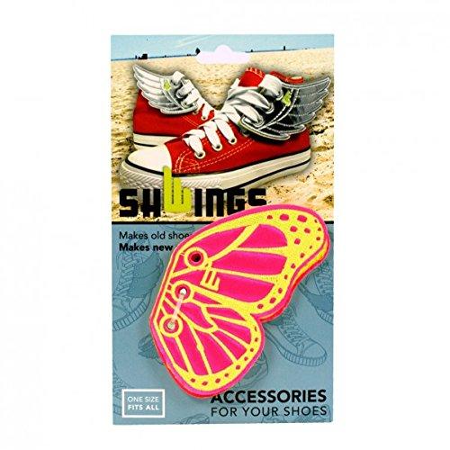 Donkey Products Schmetterling für die Schnürsenkel, Shwings, 2-tlg., Deko für Schnürschuhe, Neon Pink, 330611